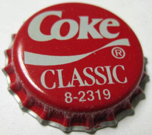 COKE CLASSIC 8-2319 Soda CROWN MISSOURI Bottle CAP Jefferson City Coca-Cola