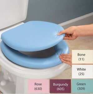 Magnificent Details About Padded Toilet Seat And Lid Soft And Comfortable Alternative To Toilet Seats Theyellowbook Wood Chair Design Ideas Theyellowbookinfo