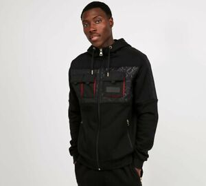 Glorious-Gangsta-Mens-New-Galante-Full-Zip-Long-Sleeve-Hoody-Black-Red