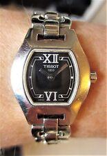 Reloj de Pulsera Damas ss Tissot 1853 Cuarzo Cristal de Zafiro 30m Funcionando Bien