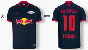 Details zu Trikot Nike RB Leipzig 2019 2020 Away UCL Forsberg 10 [152 XXL] Red Bull Badge