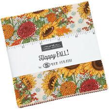 Happy Fall Moda Charm Pack 42 100% Cotton 5 Precut Fabric Quilt Squares