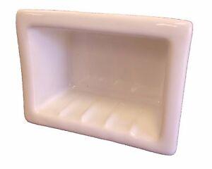 6x4 Blush Porcelain Recessed Soap Dish Shower Tile Ceramic Holder