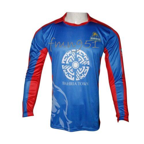 PSL Edition 3 Karachi Kings Jersey Shirt T-Shirt Full Long Sleeves with all Logo