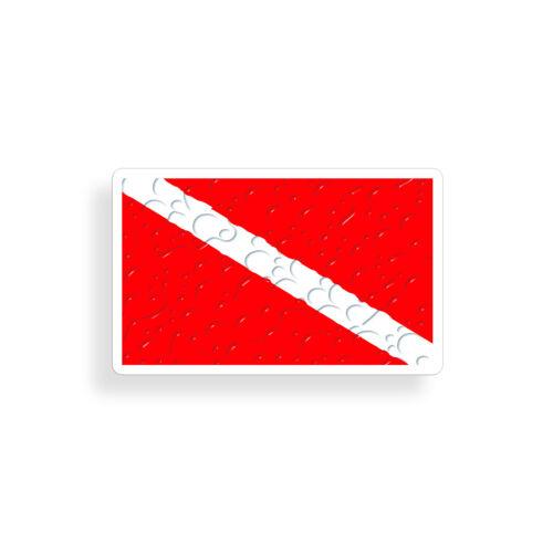 Scuba Autocollant diver down Dive Flag goutte d/'eau réservoir Tasse Voiture Fenêtre Pare-chocs decal