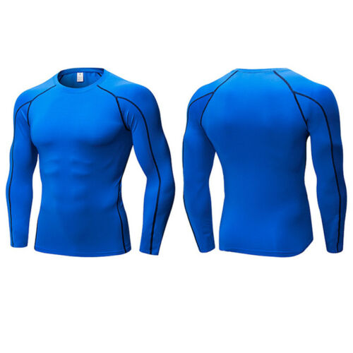Men Boy Long Sleeve Compression Baselayers Thermal Under Shirts Top Skins Tee