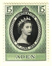 ADEN 1953 CORONATION  MNH