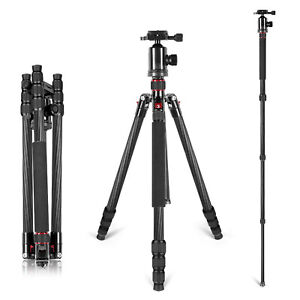 Neewer Carbon Fiber 66 inches Camera Tripod Monopod For Camera Video Camcorder