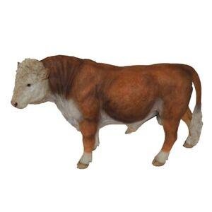 Design Keramik Figur Stier Bulle glasiert Kuh Statue Skulptur Rind Dekofigur