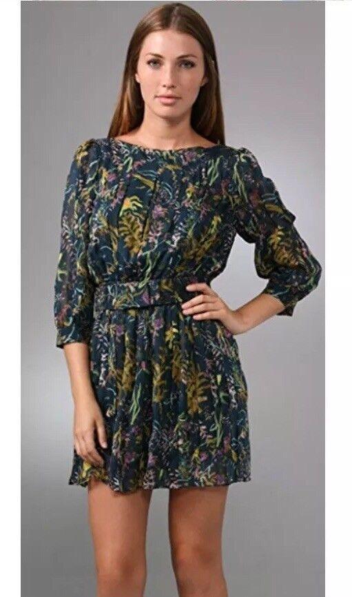 Diane Von Furstenberg Pialla Dress Dress Dress In Green Women's 2 XS (E01) 0d6569