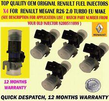 GENUINE FOR RENAULT MEGANE 225 SPORT, R26 & R26R X4 FUEL INJECTORS 8200511099