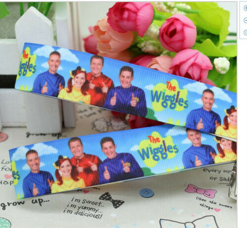 The Wiggles ribbon for gift wrapping hair tie or scrapbooking blue 25mm wide