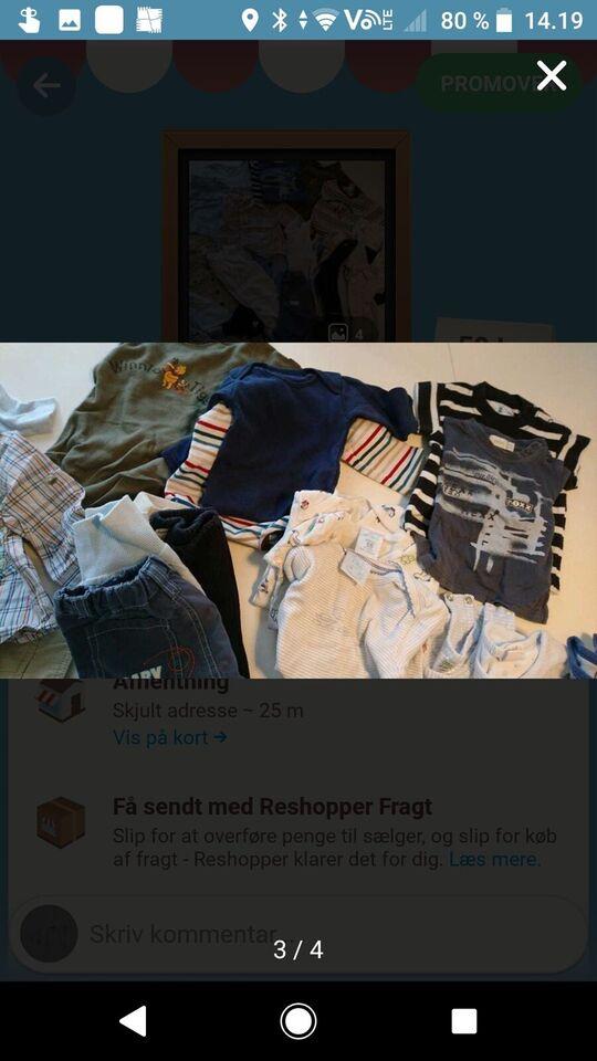 Blandet tøj, Tøj-pakke, Blandet