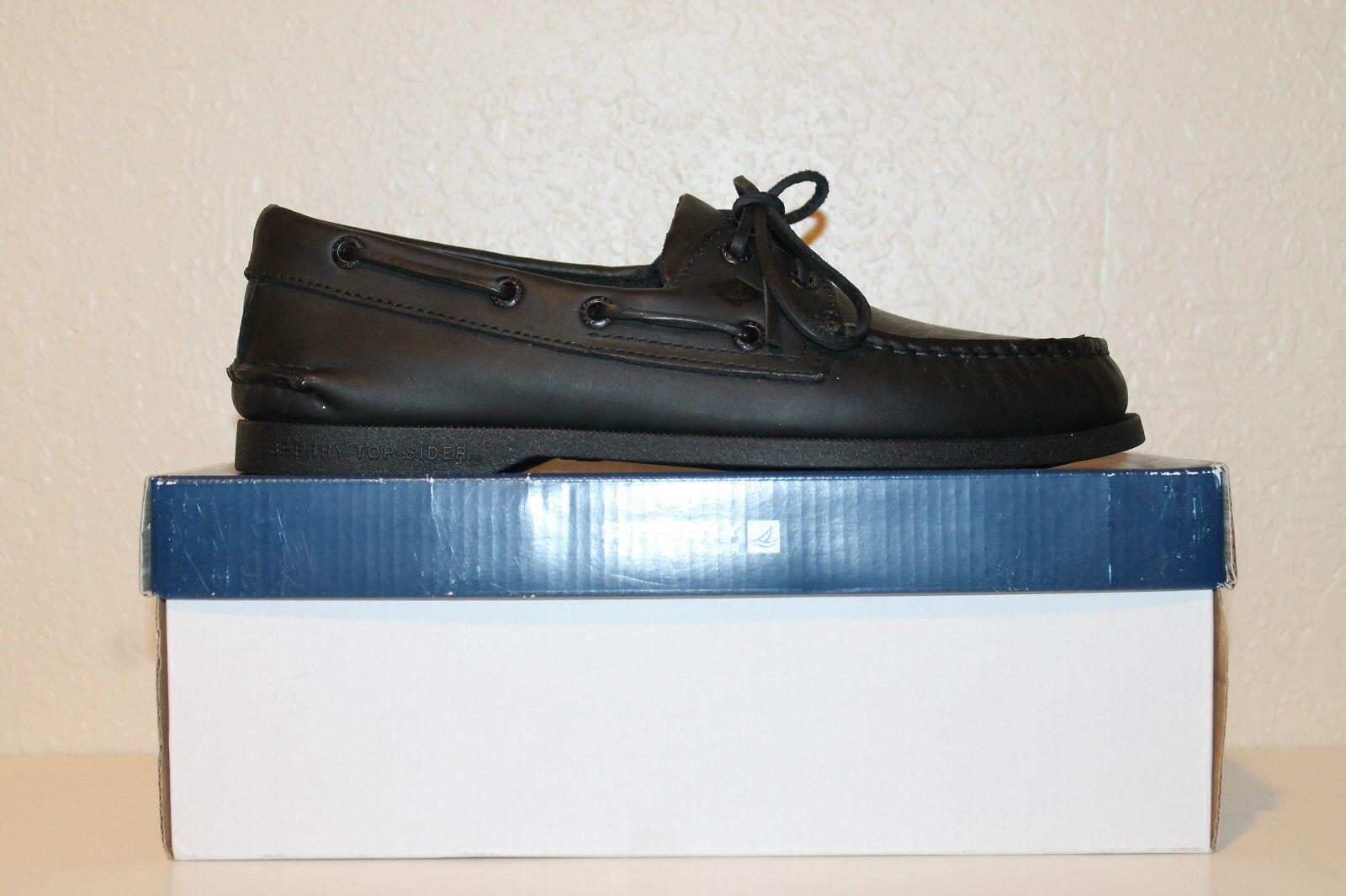 d6e0c1f4091078 Mens Sperry Authentic Original 2 Eye Classic Boat Shoes Black 9 2e ...
