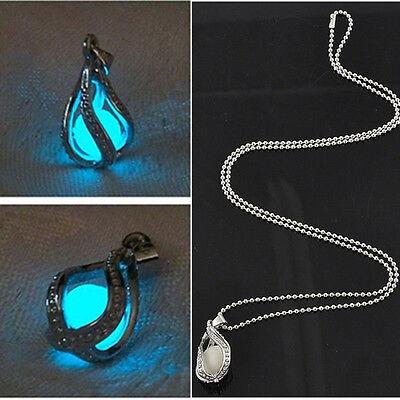 Fashion Couple The Little Mermaid's Teardrop Glow in Dark Pendant Necklace Gift