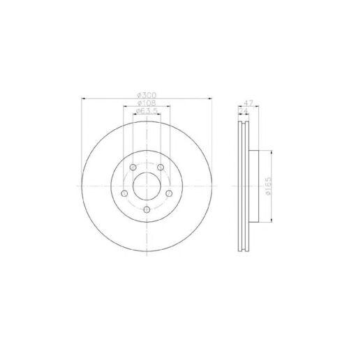 NEUF JAGUAR X-Type 2.5 Break Véritable Mintex Avant Disque De Frein /& Pad Set