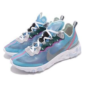 d45f0398fff3 Nike React Element 87 Royal Tint Blue Grey Mens Running Shoes AQ1090 ...