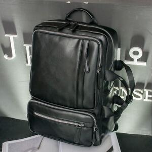 Men-039-s-Faux-Leather-Business-Backpack-Rucksack-15-6-034-Laptop-Bag-School-Travel-Bag