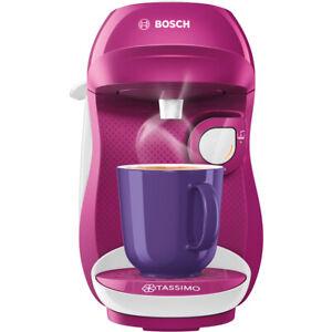 Tassimo by Bosch TAS1001GB Happy Pod Coffee Machine 1400 Watt Purple / White