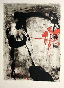 Giuseppe SANTOMASO (1907-1990) con firma farblithographie, composizione, 1963