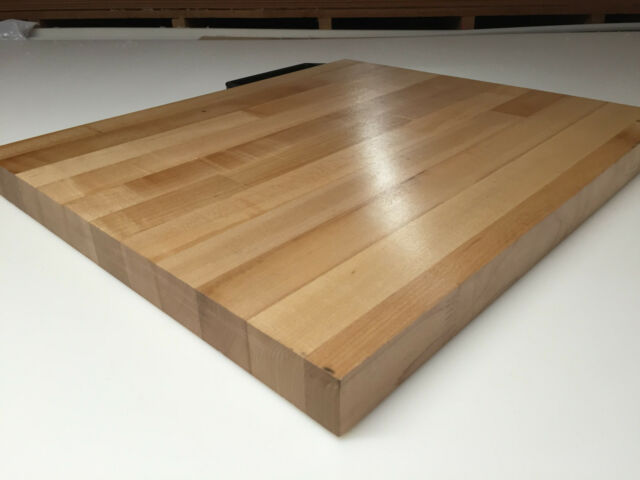 "25/"" x 18/"" x 1.5/"" Maple Wood Butcher Block Counter top //// Cutting Board"