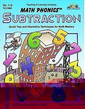 Math Phonics - Subtraction : Quick Tips Alternative Techniques for Math Gr 1 - 3