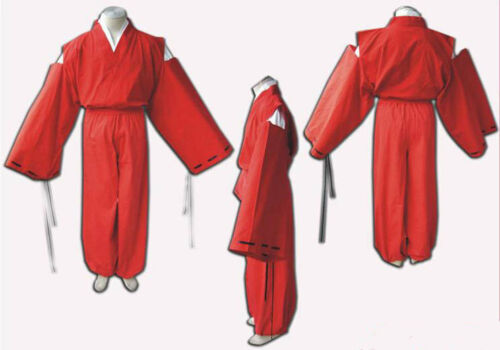INUYASHA Half Demon Red Kimono Suit Outfit Adult Costume for Cosplay /& Halloween