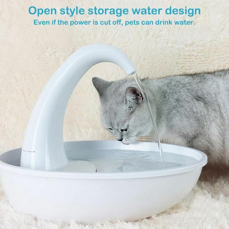 Pet Water Dispenser Cat Feeding Water Flowing Fountain Cat With Water Dispenser