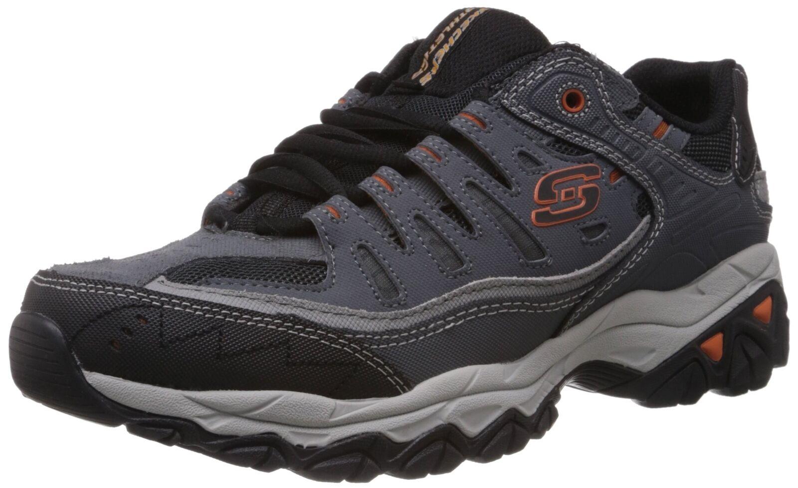 Skegers Sport Men's  Afterburn Memory Foam Lace -up scarpe da ginnastica Charcoal 13 4E US  ti aspetto
