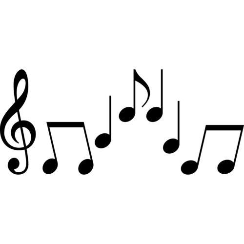 Set S Noten schwarz Violinschlüssel Notenschlüssel Musik Auto Aufkleber Tattoo