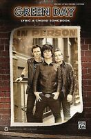 Green Day Lyric & Chord Songbook Sheet Music Guitar Book 000702535
