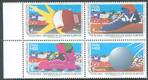 CHILE-OLYMPIC-Yvert-1372-5-MNH-VF
