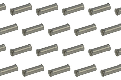 6 AWG TEMCo Butt Splice Connector Tin Plated Copper Uninsulated Gauge 25 Pack