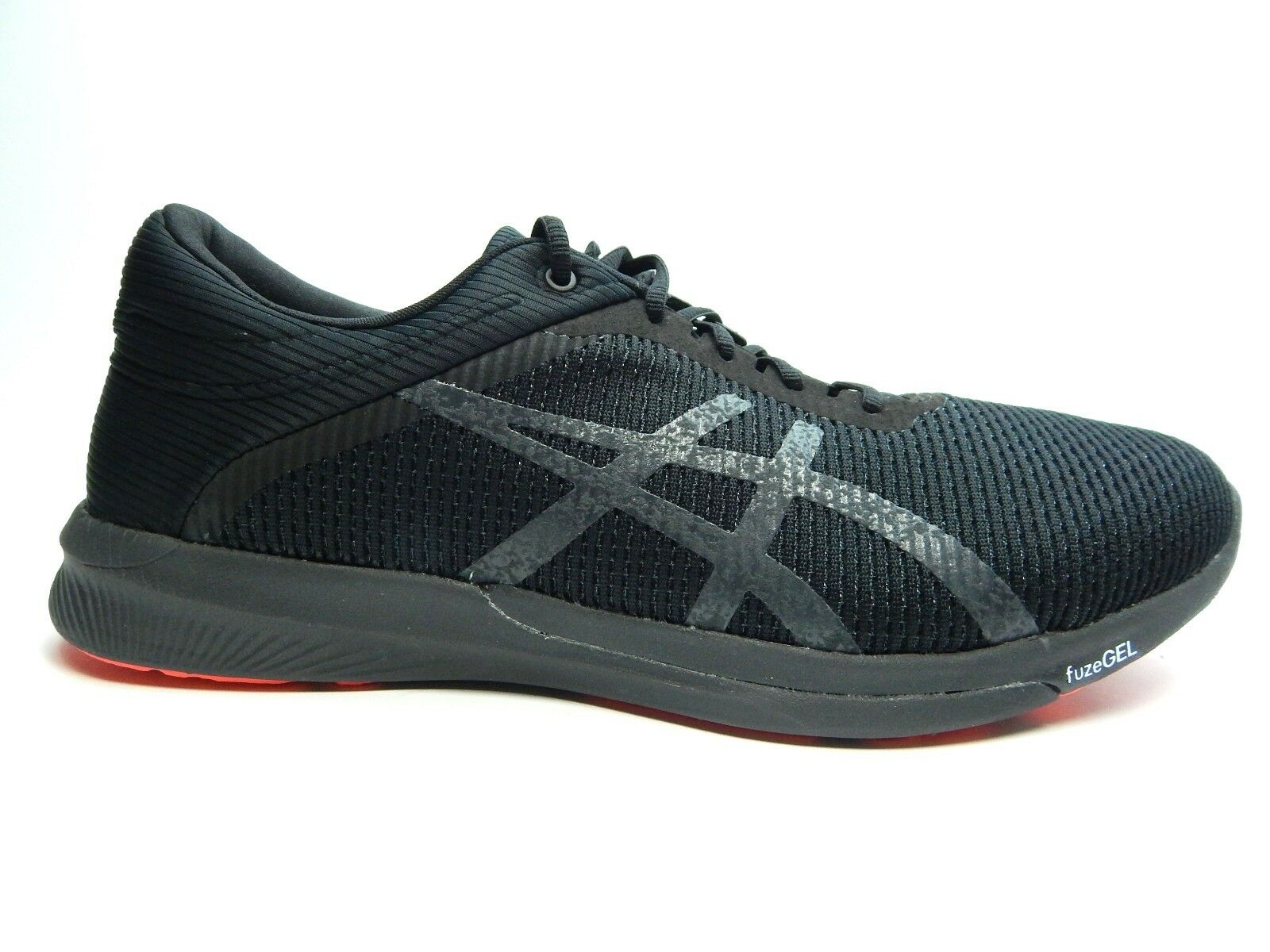 Asics Fuzex Rush DARK CM T7K2N 9095 BLACK DARK Rush GREY flash MEN SHOES SIZE 9.0 TO 11 0b8e1a