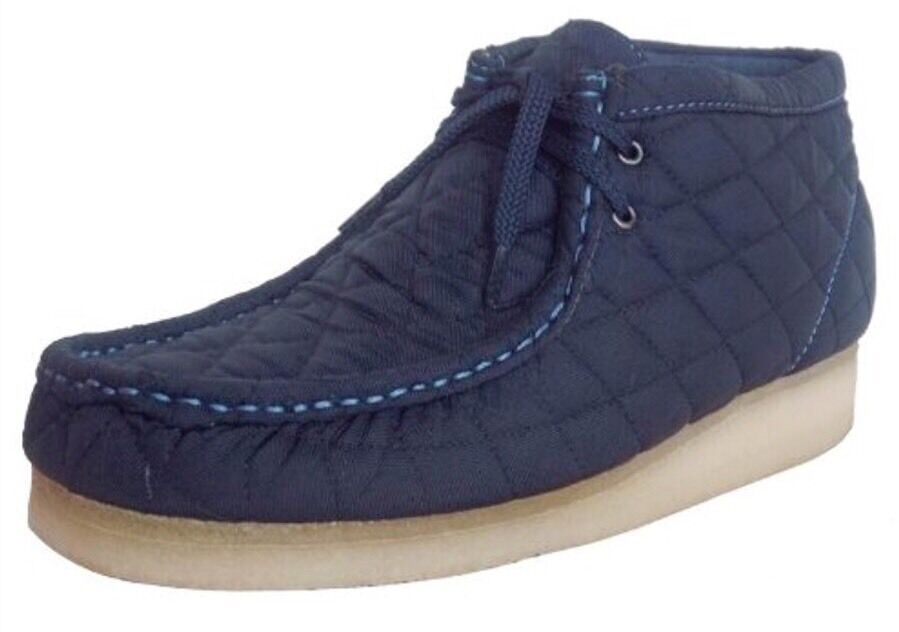 New Clarks Original Wallabee Quilt Navy shoes 79004 Matel Marine 9.5M RARE