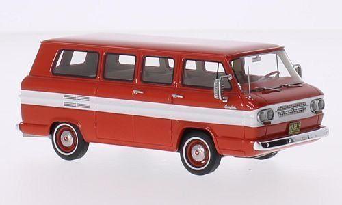 Chevrolet Corvair Window Van Minibus 1961 White Red NeoScale 1 43 NEO46525 Model