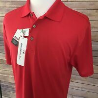 Men's Lg. Grand Slam Red Polo Shirt, Short Sl. Dri-flow. Sun-flo. H