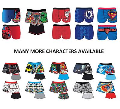 Cotton Rich in Sizes S-XL Mens Character Novelty Spiderman Avengers Batman Superman Liverpool Football Boxer Short Trunk