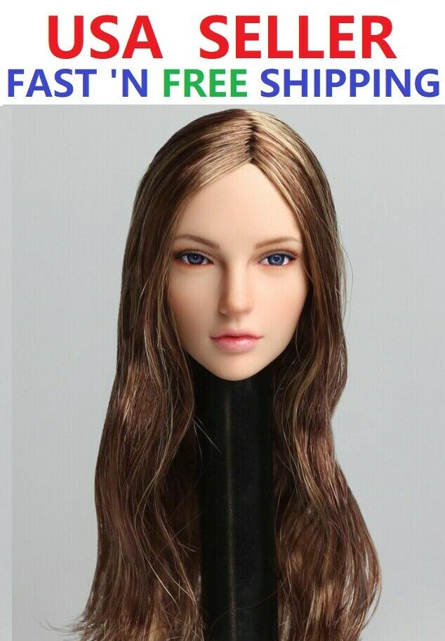 1 6 Female Head Sculpt PALE SDDX01 A Rolling Eyes For 12  PHICEN TBL Figure Doll