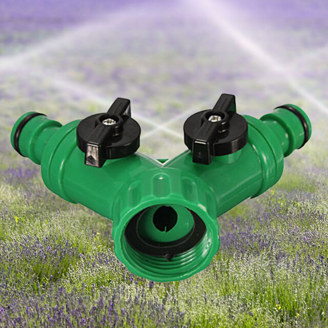 3/4''Two Way Double Garden Twin Tap Hose Pipe Splitter Faucet Connector Adaptor.