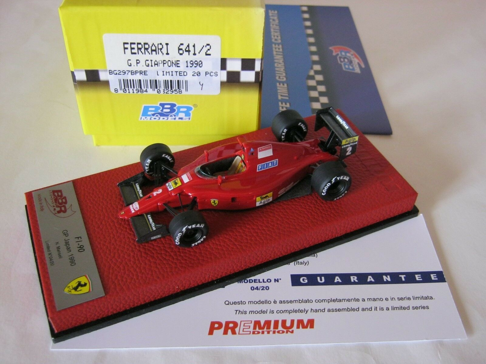 F1 BBR 1 43 FERRARI 641 2 GP JAPON 1990 BG297BPRE NIGEL MANSELL