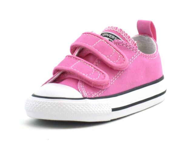 698909aad479ce Converse Infant Ct 2v Ox Pink Velcro 709447f UK 7   EUR 24 for sale ...