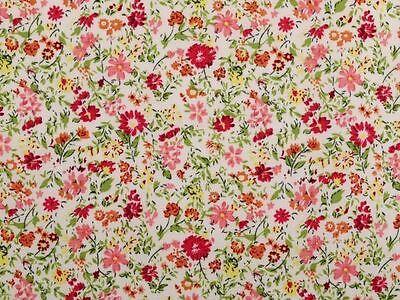 Sommerware ! Baumwollstoff, Blumen, bunt 140cm  breit, bedruckt, 4 Farbvarianten