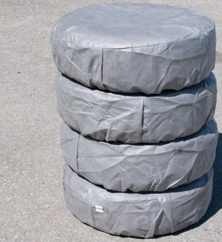 """4 X Ruote Pneumatici Protettiva Copre Storage 17 /"""" 225//45 R17 GRIGIO"""