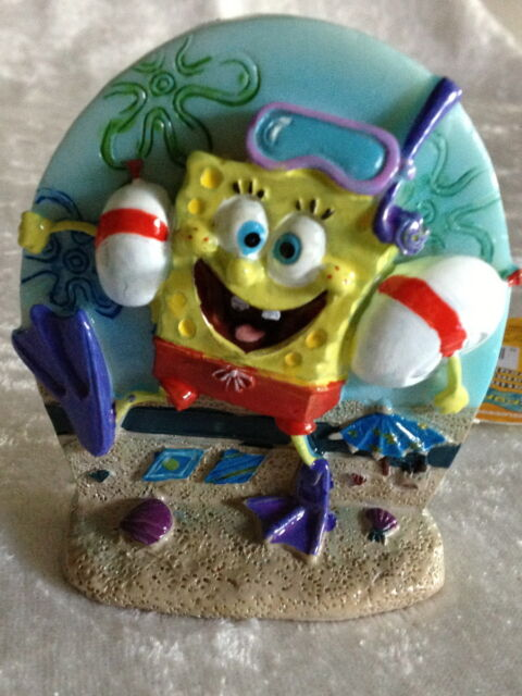 "Aerating Diver SpongeBob- Fish Aquarium Decoration Ornament - 3"""