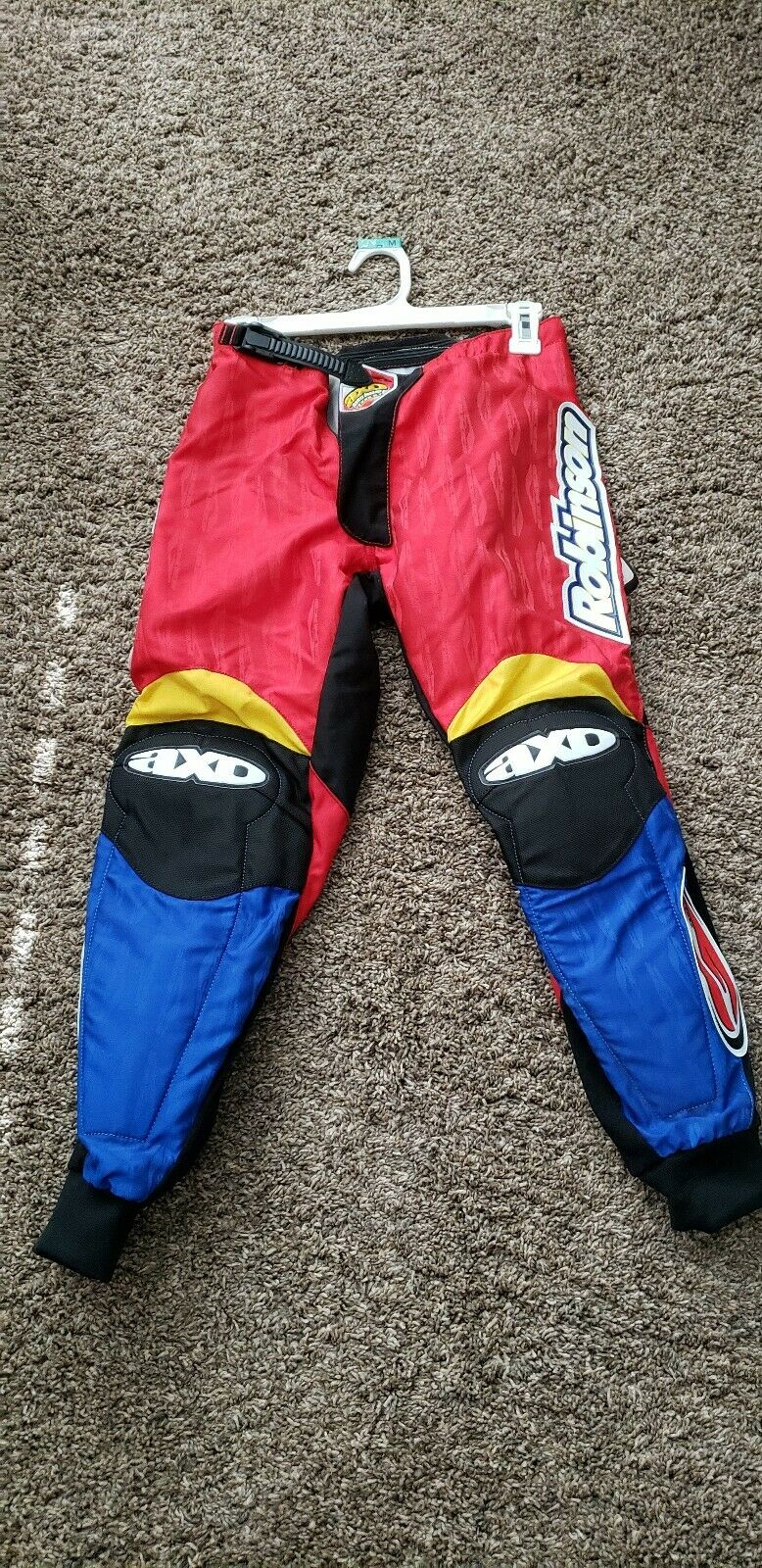 NEW Old School BMX GT Dyno ROBINSON  AXO BMX Racing Pants Leathers size 26  team promotions