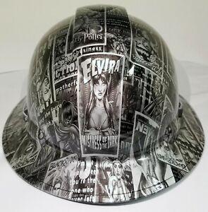 FULL-BRIM-Hard-Hat-custom-hydro-dipped-ELVIRA-BAD-GIRLS-OF-HOLLYWOOD