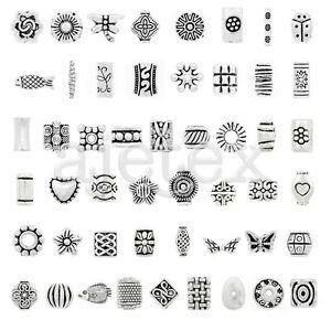 10-500pcs-Tibetan-Silver-Loose-Spacer-Metal-Bead-Necklace-50-Style