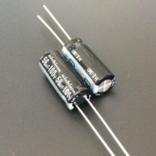 10pcs 56uF 100V Nichicon HE 8x20mm 100V56uF Low Impdance Capacitor