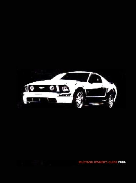2006 ford mustang owners manual ships asap with tracking ebay rh ebay com